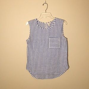 J. Crew Blue and White Striped Tank